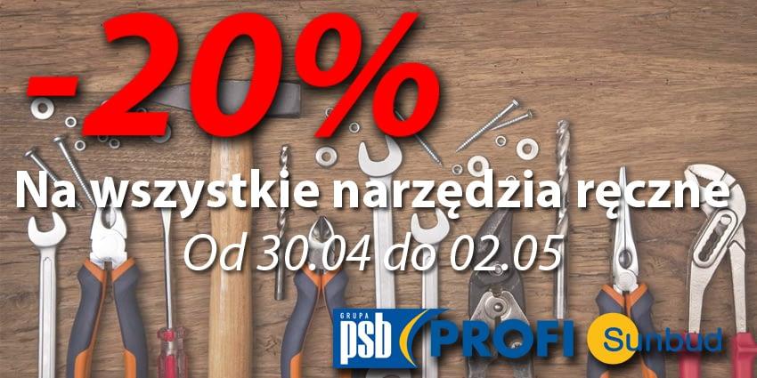 Narzędzia ręczne Promocja 20% taniej