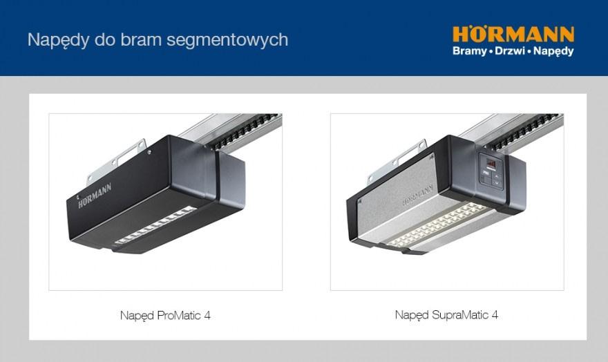 Napędy do bram segmentowych ProMatic 4 i SupraMatic 4